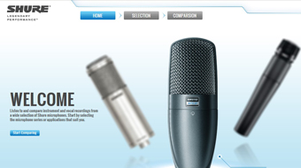 SHURE - Web Design with CMS system development
