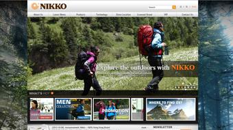 Nikko Sports - Web Design with CMS system development
