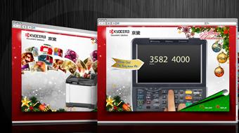 Kyocera Document Solutions - Web Christmas e-card design