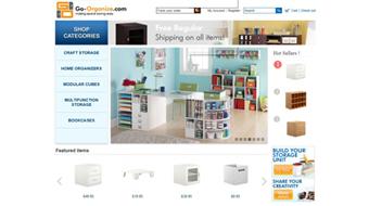 Go-organize - Web Design with Online Shop &CMS system development