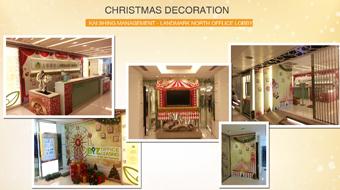 Landmark North Office - Christmas Office Lobby Design